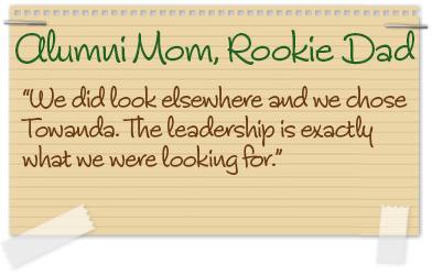 Alumni Mom, Rookie Dad